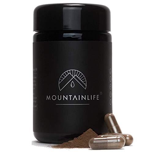 Mountainlife Natural Shilajit-Kapseln | UK Labor getestet | 60 Shilajit-Extrakt-Kapseln | Vegan akkreditiert | Kräuter- & Mineral-Supernahrung | Reich an Fulvin- & Aminosäuren, Mineralien, Vitaminen