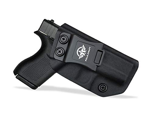 Glock 42 Holster, Kydex IWB Holster for Glock 42 Concealed Carry - Inside Waistband Carry Concealed Holster Glock 42 Pistol Case Pocket Purse Guns Accessories (Black, Right Hand Draw)