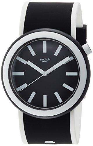 Swatch Damen Digital Quarz Uhr mit Silikon Armband PNB100