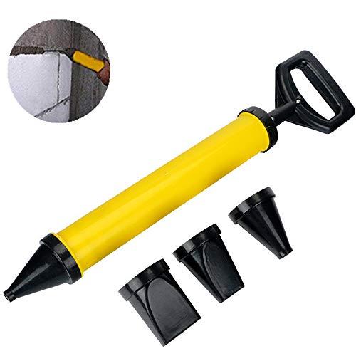 Qplcdg Fugenpistole für Mörtel,Handmörtelpumpe mit Zubehör,Mörtelpresse Mörtelspritze mit 4 Düse