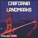 California Landmarks Calendar 2022: Official California Calendar 2022, 18 Month Photo of California Travel calendar 2022, Mini Calendar