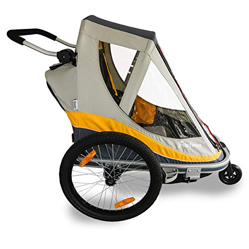 Freetown SWEET ROLL Two Child Bike Trailer with Stroller Conversion Kit