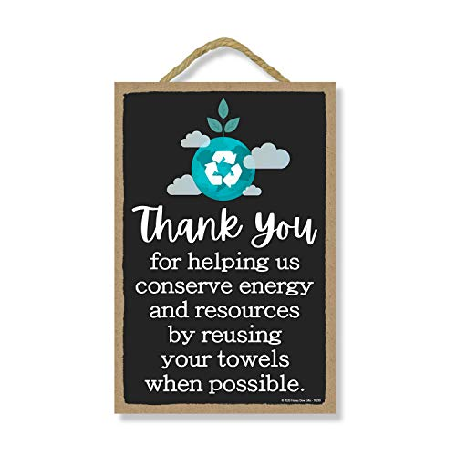 Honey Dew Gifts, Thank You for Helping Us Conserve Energy, Rules Sign for Rental Properties, Vacation Home Signs, 7 Inches by 10.5 Inches