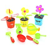 Bageek 19PCS Kids Garden Set Creative Plastic Funny Gardening Toy Pretend Garden Toy