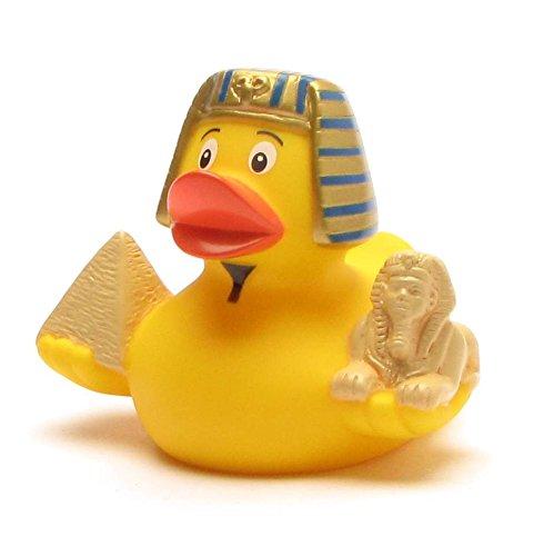 Duckshop I City Duck Ägypten I Quietscheente - L: 7,5 cm I inkl. Badeenten-Schlüsselanhänger im Set