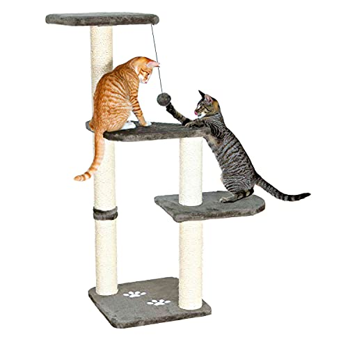 TRIXIE Pet Products Altea Cat Tree (Gray), Large (16 x 16 x 46 in.)