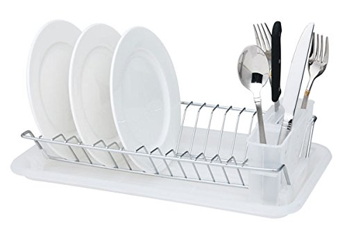 Home Basics Compact Dish Drainer, Clear