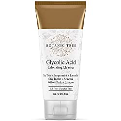 Glycolic Acid Face Wash Exfoliating Cleanser 6oz w/10% Glycolic Acid- AHA For Wrinkles and Lines Re