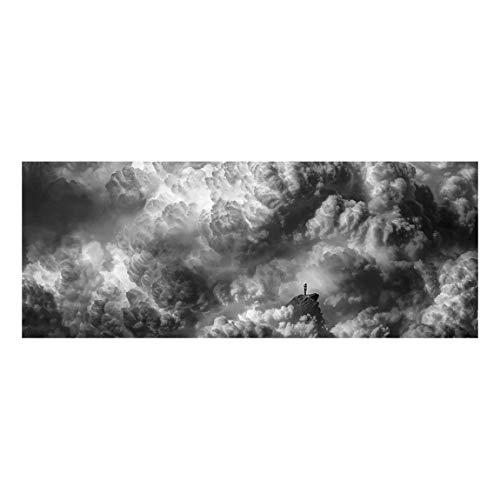 Bilderwelten Cuadro de Cristal - A Storm Is Coming - Panorama Apaisado 50 x 125cm