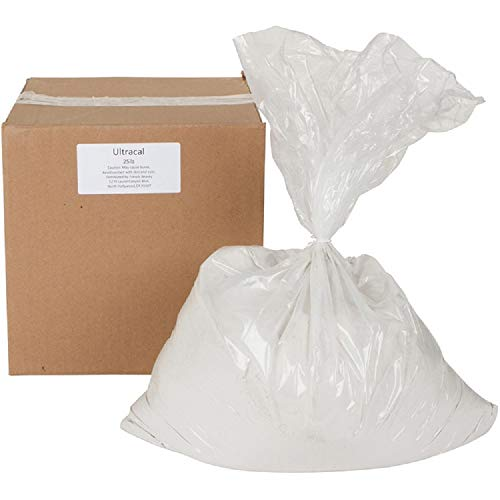 ULTRACAL 30 Gypsum Cement - Plaster - for Mold Making and Casting, Ideal for Latex Molds! Takes Excellent Detail (25 lb)