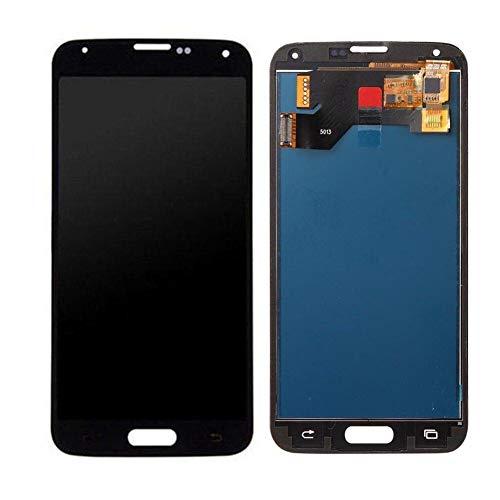iBellete - Pantalla LCD de Repuesto para Samsung Galaxy S5 i9600 G900 G900F G900V G900T G900A (Color Negro y Blanco)