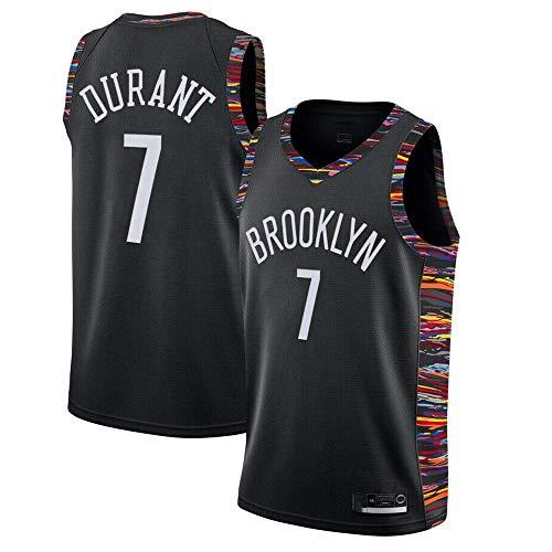 xisnhis Completo Basket Uomo,Donne Jersey Uomo - NBA Brooklyn Nets 7# Durant Maglie Traspirante Ricamati Pallacanestro Swingman Jersey, (Size:S-XXL)