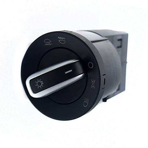 ASDFHUIOX Chrome Farlo de Control Interruptor Niebla Luz/Ajuste para VW Jetta MK4 Bora Passat B5 Beetle 3BD941531 3BD941531A (Color : Black)