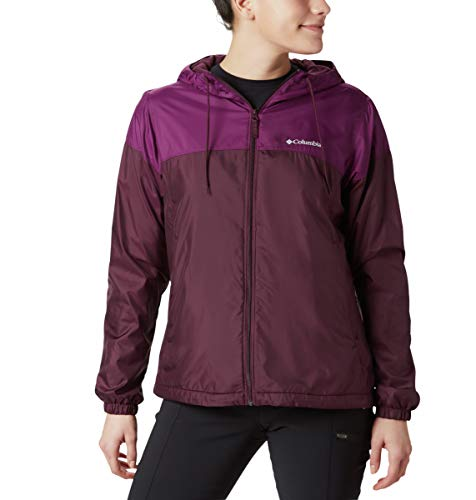 Womens Flash Forward Lined Black Cherry Windbreaker Jacket