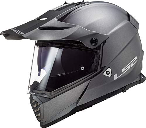 LS2 Casco Cross Moto Pioneer Evo Mate Titanio