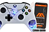 Skulls White Smart Rapid Fire Custom Modded Controller for Xbox One S Mods FPS Games and More. Control and Simply Adjust Your mods via Your Phone!