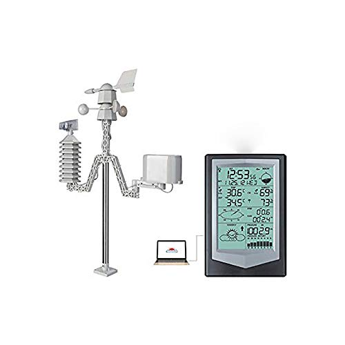 Weather Station, Meteorological Instrument, Wireless Indoor Outdoor Home Smart Weather Forecast Stations with Wind Direction Speed Rain Gauge Multiple Sensors Temperature and Humidity Meter USA Stock