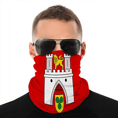 vbndfghjd 367 Multifunktionaler atmungsaktiver Mikrofaser-Halstuch Half Cover Shield Flagge von Hannover in Lower Saxony Deutschland Cover Shield