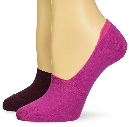 Keds Women's Solid Sneaker Sock Liner 2 Pair Pack, fuchsia, Shoe Size: 4-10 -  KEWS17B002-02-purple-SS 4 to 10