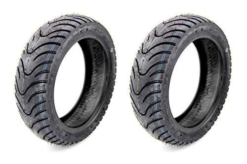 Set deneumáticos delanteros y traseros de moto de KendaK413. Neumáticos delanteros 120/70–12y traseros 130/70–12