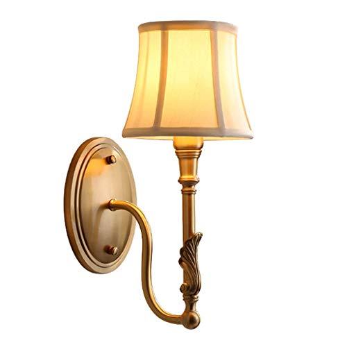 Eclairage mural couloir allée chambre salon chevet full cuivre nuit éclairage intérieur et extérieur lampe murale (Taille: 16x36cm)