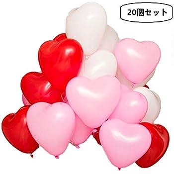 ハート型風船 誕生日会や、結婚式、バースデーパーティー、ウェディング、二次会いろんな記念日パーティーに (ハート型バルーン20個)(op-01) [並行輸入品]