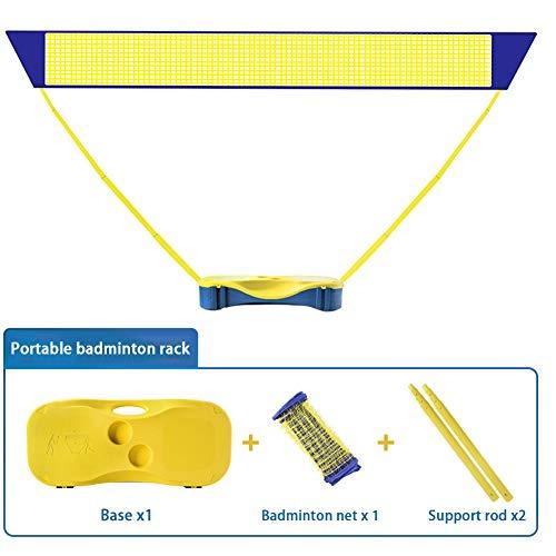 Badminton Netz portable household outdoor Badmintonnetz outdoor folding simple mobile Tennisnetz für den Indoor-Strandsport im Freien auf jedem Untergrund aufstellbar,Yellow1