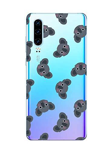 Oihxse Compatible pour Huawei Nova 4 Coque Ultra Fine Transparente TPU Silicone Doux Protection Housse Motif/Exact Fit/Souple pour Huawei Nova 4(Paresse A9)