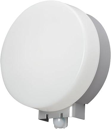 アイリスオーヤマ LEDポーチ灯 人感センサー付 丸型 電球色 500lm IRBR5L-CIPLS-MSBS
