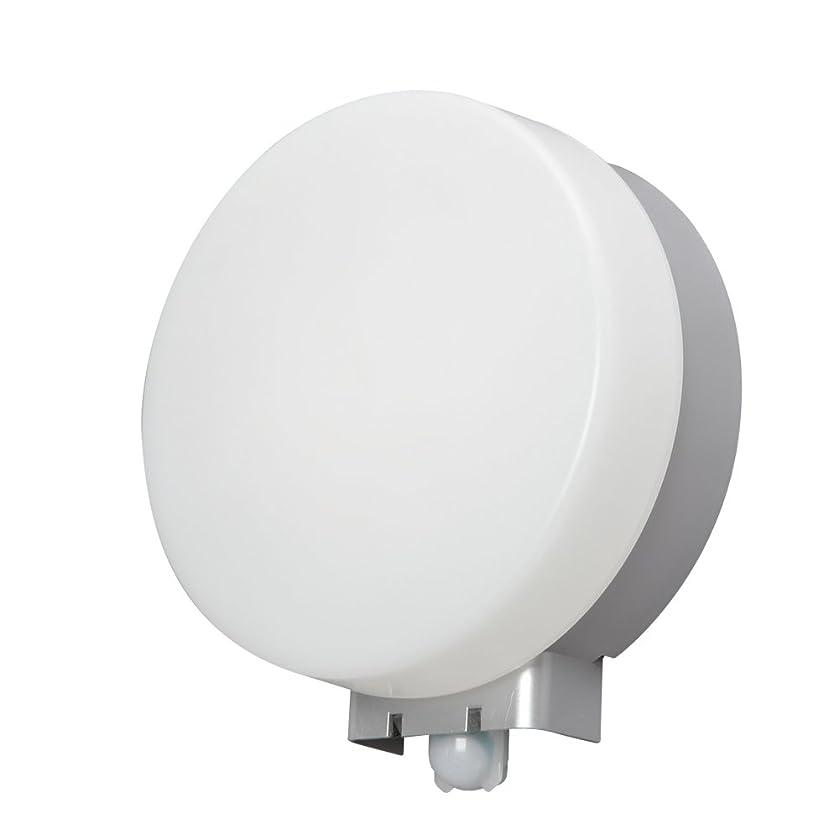 連邦冒険機会アイリスオーヤマ LEDポーチ灯 人感センサー付 丸型 電球色 500lm IRBR5L-CIPLS-MSBS