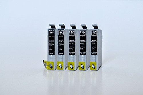 T1281 Printing Saver 5 SCHWARZ Tintenpatronen kompatibel für EPSON Stylus S22 SX125 SX130 SX230 SX235W SX420W SX425W SX430W SX435W SX438W SX440W SX445W SX445WE Office BX305F BX305FW Plus