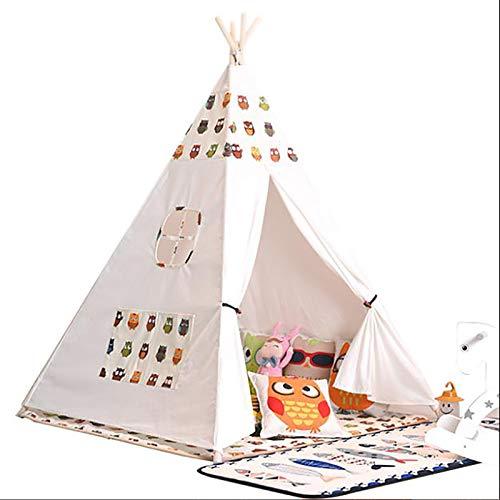 SHWYSHOP Carpa para niños Estilo Cuento de Hadas, con tapete de Juego, Carpa Plegable, Juguetes de Entretenimiento para niños y niñas para Interiores y Exteriores