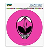 Graphics and More Power Rangers Pink Ranger Helmet Automotive Car Window Locker Circle Bumper Sticker