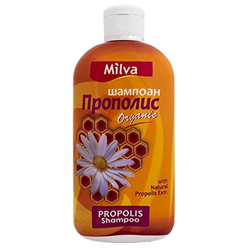 Milva Natural Propolis Shampoing au miel pour des cheveux renforcés, en pleine santé et sans pellicules Effet apaisant 200 ml