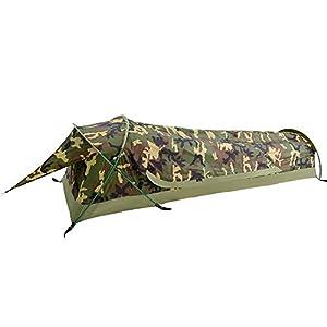 GEERTOP テント 1人用 ソロテント ビビィ 軍幕 迷彩テント 軽量テント ツーリングテント 防水テント PU10000mm bivy コンパクト 登山 キャンプテント アウトドア