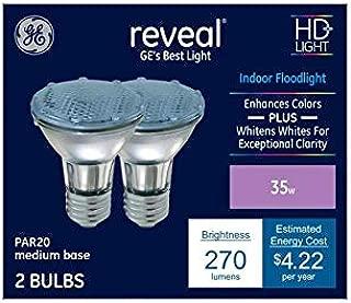 GE Reveal 2-Pack 35-Watt Dimmable Color-Enhancing Par20 Halogen Appliance Light Bulbs