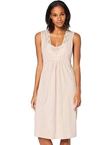 Iris & Lilly Damen Kurzärmeliges Nachthemd aus Baumwolle, Pink (Pink), M, Label: M