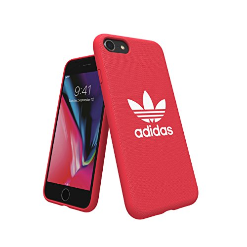 adidas Originals Adicolor Moulded Case/Cover para Apple iPhone 8/7/6S/6 (Rojo)