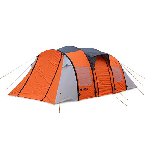Moose Outdoor Inflatable Tent, Extra Large Room for 8-10 Person, Fast Set Up in 3 Minutes,Family Camping Tent with Air Flow Vents, Waterproot, Windproof and Sewn-in Groundsheet (2210L)