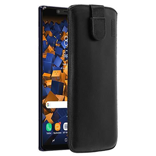 mumbi Echt Ledertasche kompatibel mit Samsung Galaxy Note 9 Hülle Leder Tasche Case Wallet, schwarz