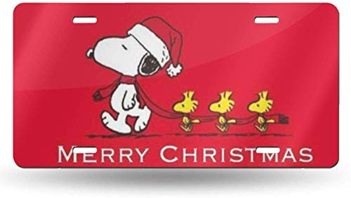 not applicable Frohe Weihnachten Snoopy Moderne Neuheit License Plate Tag Sign 6 X 12 Zoll