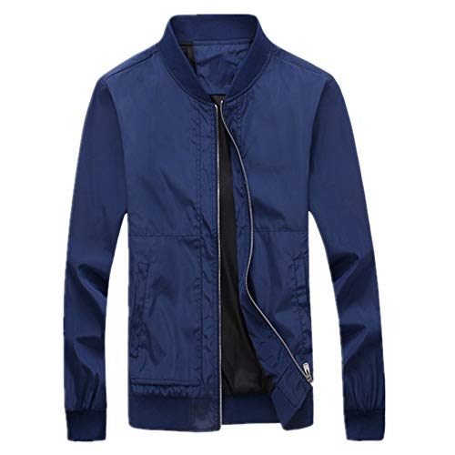N\P Chaquetas finas para hombre con tallas grandes, estilo casual azul XXXL