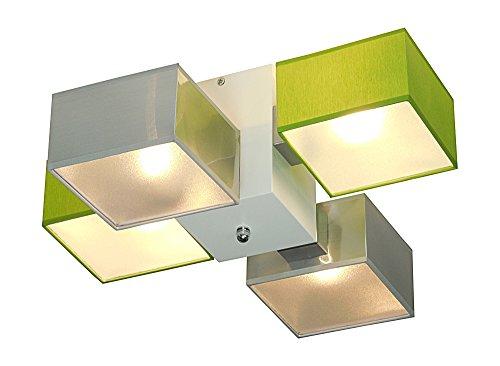 Trango 4-flamme Plafonnier LED design I lampe de salle de bain TG3089 I lampe de salle de bain I spot de plafond I plafonnier avec 4x lampe GU10 LED directe 230V