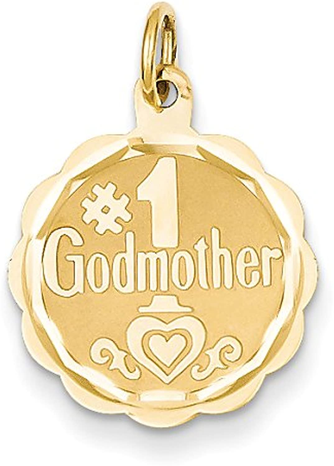 Diamond2Deal 14k Yellow gold  1 Godmother Pendant