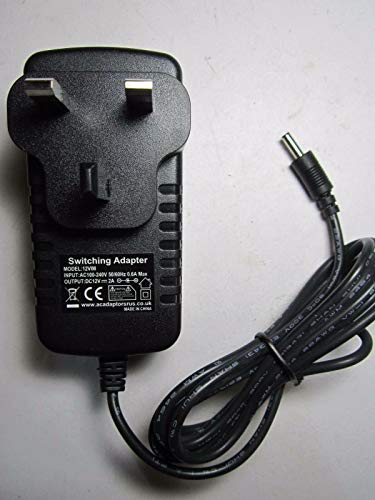 12V 2A AC-DC Adaptor Power Supply Charger for Geobook 1 Geobook1 Laptop Notebook