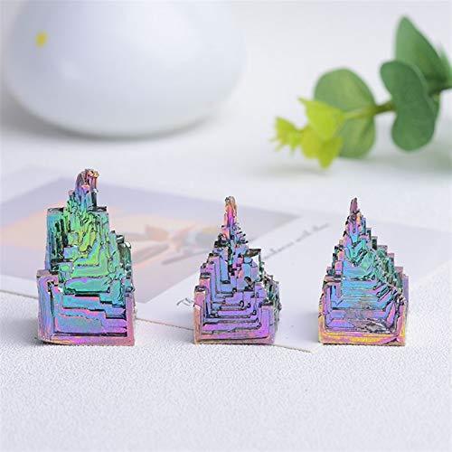 ACEACE Metal Natural Pirámide de Cuarzo Bismuto Bismuth Ore Quartz Piedra preciose Reiki Piedra Decoración del hogar Cristales crudos (Color : 30 40g, Size : 1pc)