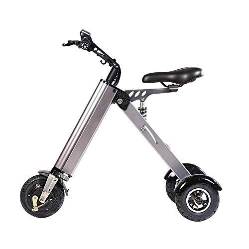 scooter Mini Eléctrico Plegable Triciclo Peso 13 Kg con 3 Límite De Velocidad De Engranajes Y 3 Amortiguadores Especialmente For Las Personas Mayores De 50 Años En Viaje