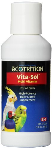 8 In 1 Pet Products BEOD328 Vita-Sol High Potency Multi-Vitamin Bird Supplement, 4-Ounce
