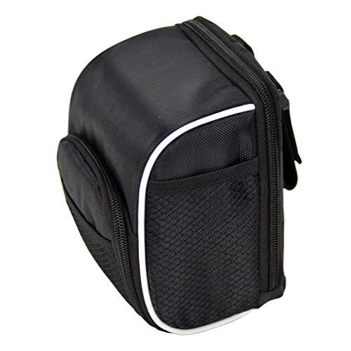 BESPORTBLE Bike Handlebar Bag Bicycle Front Frame Storage Bag Front Baskets for Road Bike Mtb Mountain Bike (Black)