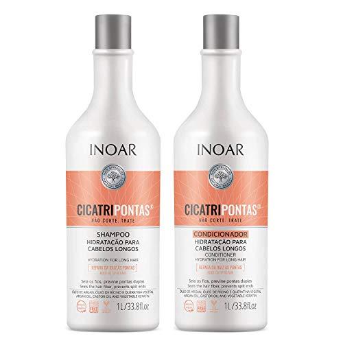Kit Inoar Shampoo + Condicionador 1L Cicatripontas